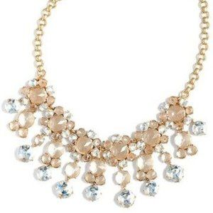 🔥NWT JCrew Icy Crystals Gold tone Bib Necklace